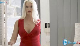 Blanche Bradburry fucked hard in red