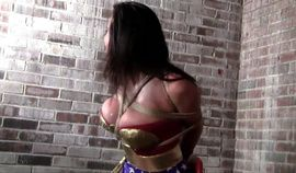 Wonder woman Bound and gagged HD video