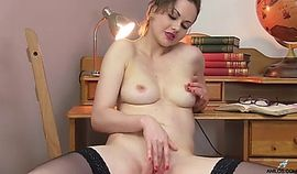 Naughty wife fills her pussy with neighbors jizz