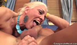 Blonde Mature Cougar Cala Craves Fucked by Younger Man