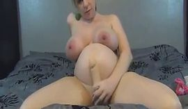 Big Tits Pregnant Girl Rides On Dildo