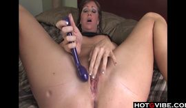 Cute Blonde rubs and fingers herself with new toy