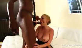 Busty chick and black dude are getting naughty