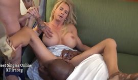 Threesome With Big tits Busty Milf