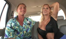 Blonde With Huge Tits Gets Her Moist Cunt Licked In a Car