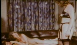 Naughty schoolgirls have lesbian sex on the couch