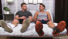 Ryan Sparks has his feet worshipped by AJ for the first time