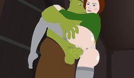 Shrek banging with his green dick