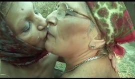 farmhand grannies use a strap on in barn