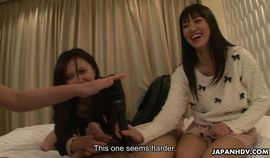 Japanese reporter, Asakura Kotomi and her friends suck cock, uncensored