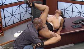 Sexy Busty Ebony MILF (Busty Ebony Office Fucks BBC) 1080p