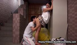 Hot Asian Japanese Married Milf Seduces Young Guy