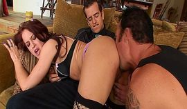 Redhead Cheyenne Jewel gets fucked in front of her cuckold husband