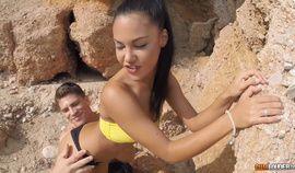 Beautiful Brunette Apolonia Lapiedra Fuck On Beach