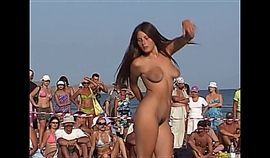 1st Time Nudist Bitch goes exhabitionist