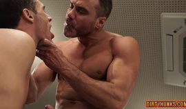Muscle gay ass to mouth with cumshot