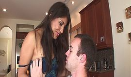 Sexy brunette Mexican doll with a hairy muff takes a hard anal fuck