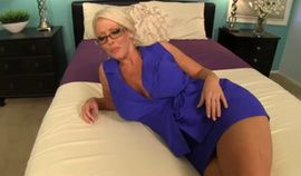 Hot mature Alura Jenson stroking cock