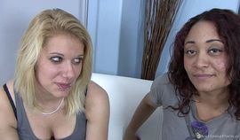 Amateur babes eat each others shaved pussies