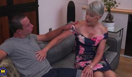 horny amateur granny banged by her toy boy