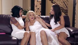 Sara Luvv, Anikka Albrite, Tara Morgan and Adriana Chechik at GirlsWay