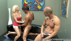 Blonde and husband enjoy a Dick together