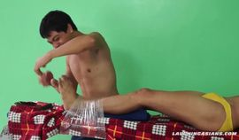 Asian Boy Rave Bound and Tickled