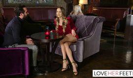 Naomi Swann and Elsa Jean Feet Sex Threesome on Date Night