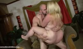Blonde BBW Teases & Gets Fucked Hard