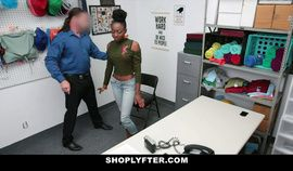 ShopLyfter Ebony Teen With Small Tits Has Interracial Sex With Security Guard