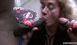 French mature Isabelle interracial anal hairy