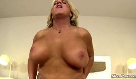 Hot babe with big titted pump mature blonde HD