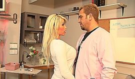 Hot blonde MILF with big tits seduces a stud in the nursery room