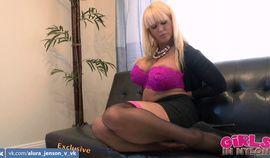 Hot Alura Jenson masturbating in her stockings