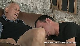 Sexy young lad gets fucked by mature daddy cock