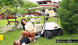 Valentina Ross At the golf club porn HD