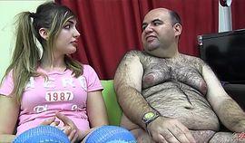 PUTA LOCURA Busty sweet teen takes her first bukkake